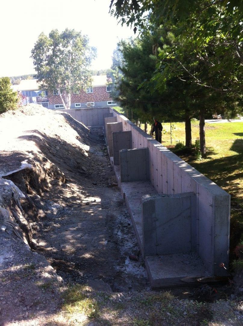 Mur de soutènement Rimouski